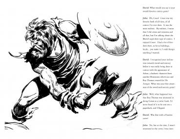 The John Buscema  Sketchbook