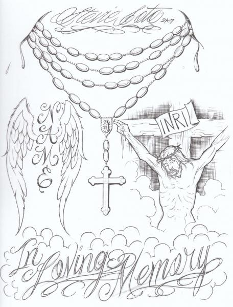 Tattoovorlagen - Steve Soto - Religious Sketchbook Vol.1