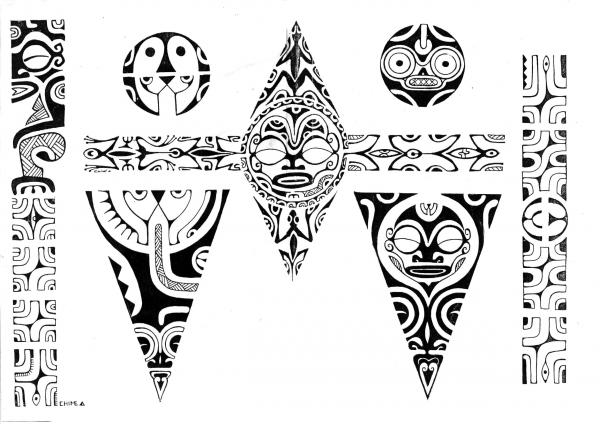 Tattoovorlagen - Polynesische Maori Tattoos - 2
