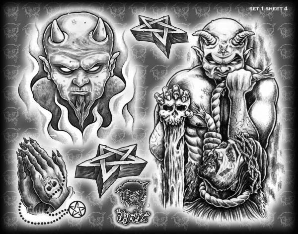 Tattoovorlagen - -Jynx Tattoo Flash